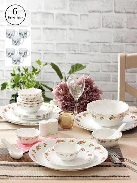 Laopala White & Pink Opalware 35 1