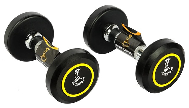 Cockatoo Rubber Coated Professional Round Dumbbells 1