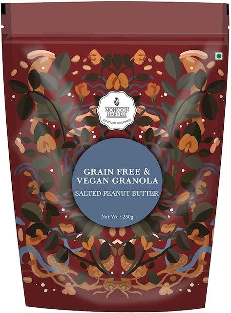 Monsoon Harvest  Grain Free & Vegan Granola, Salted Peanut Butter 1