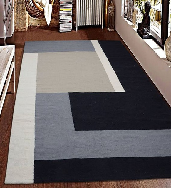 Saral Home Geometrical Pattern Cotton Hand Woven 1