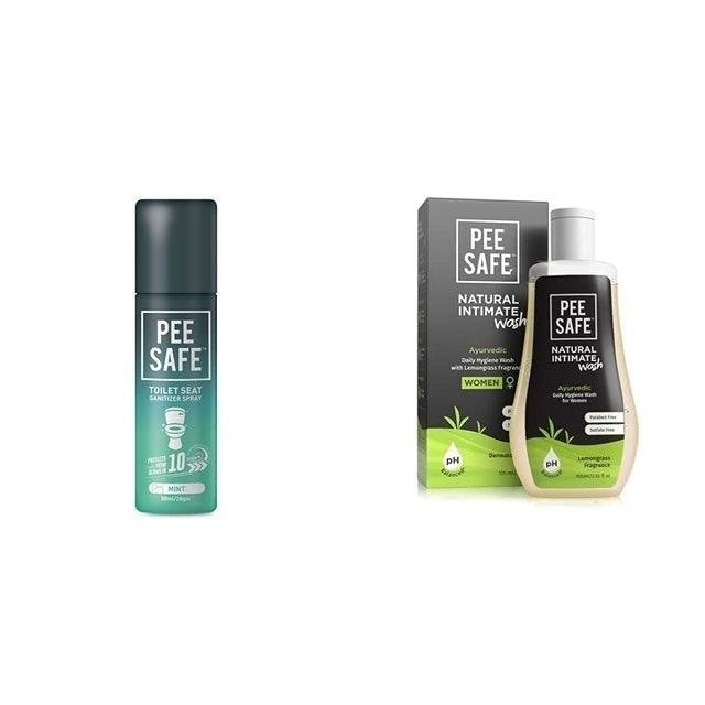 PEESAFE Toilet Seat Sanitizer Spray & Intimate Wash For Women 1