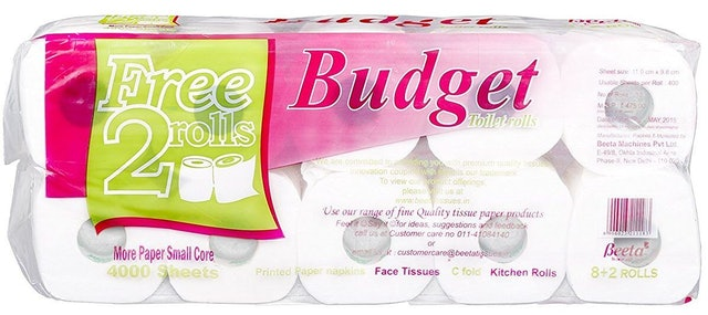 9. BEETA TISSUES Budget Toilet Paper Roll 1