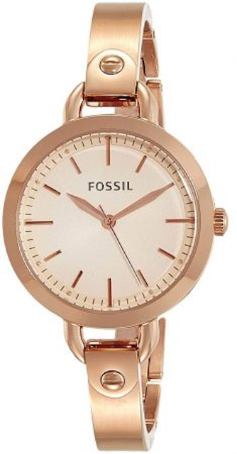 9. Fossil Analog Rose Gold Dial Watch 1