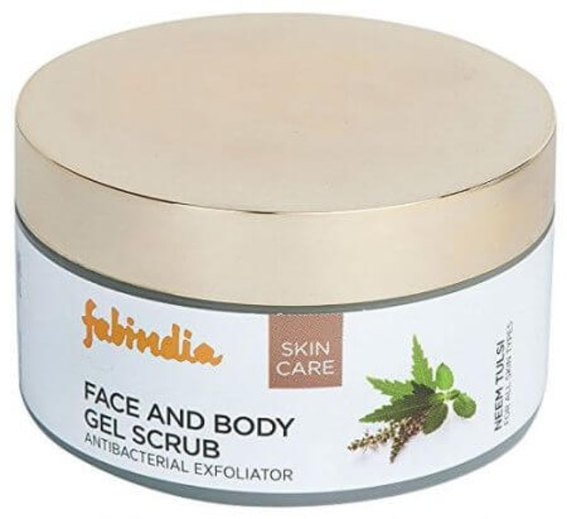 9. Fabindia Neem Tulsi Face and Body Scrub 1