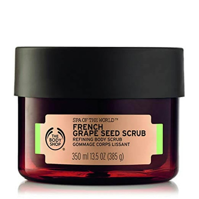 5. The Body Shop Spa of the World French Grape Seed Body Scrub 1