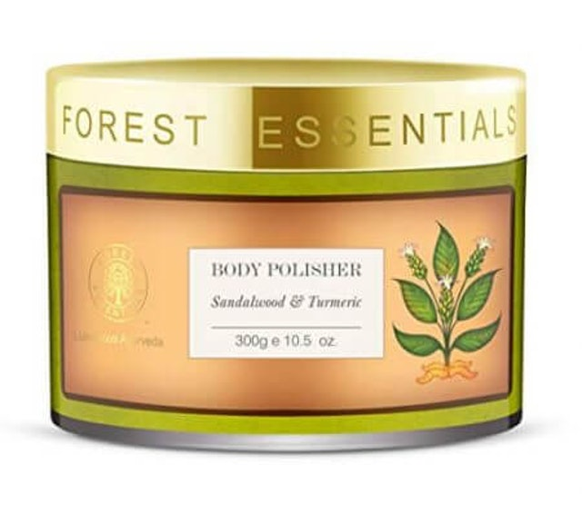 2. Forest Essentials Body Polisher Sandalwood and Turmeric 1